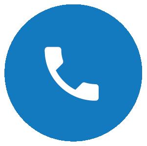 Symbolikuva, jossa sinisellä pohjalla puhelin, kuvaa yhteydenottoa